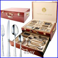 Prima 95 Piece Canteen Of Cuttlery In Wooden Case New Design For 2020