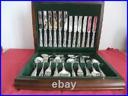 ROBERTS and DORE 44pc SHEFFIELD EPNS A1 / Stainless Steel Canteen Cutlery Set