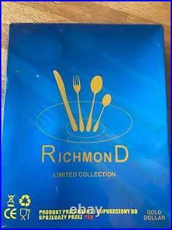 Richmond limited collection 24 piece stainless steel cutlery set unused in box