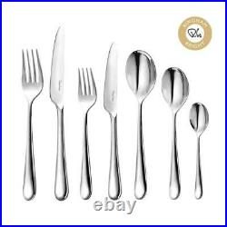 Robert Welch Kingham Bright 42 Piece Cutlery Set. High quality. Express delivery