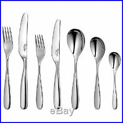 Robert Welch Stanton Bright 56 Piece Cutlery Set for 8 People Gift Boxed
