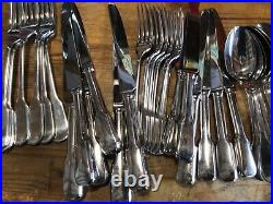 Royal Doulton 44 Piece 18/10 Stainless Steel Cutlery Set Fiddle Back Design