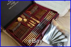 SBS Bestecke Solingen 23/24 carate gold plate cultery set