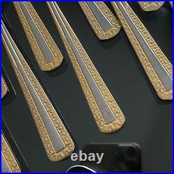 SBS Bestecke Solingen 24K Carat GOLD Plate STAINLESS Steel CUTLERY 53pc SET