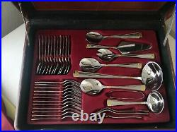 SBS Solingen 72 piece 18/10 Carat Gold Plate Cutlery With Canteen in Briefcase