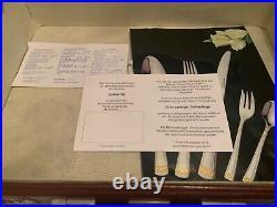 SBS Solingen 87 piece cutlery dining set Edelstahl 18/10-23/24 Ct Goldplated