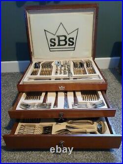 SBS Stainless Steel 86 Piece Cutlery Set