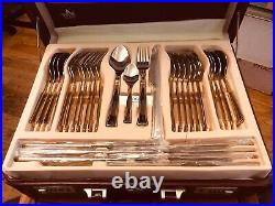 SBW 87 piece gold plated and stainless steel cutlery