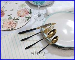 Salter Stainless Steel 16 Piece Gold and Black Cutlery Set BW07218 FAST SHIP