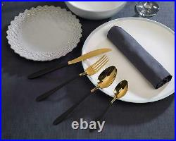 Salter Stainless Steel 16 Piece Gold and Black Cutlery Set BW07218 -FAST SHIP