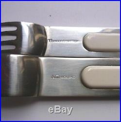 Sergio Asti ICM Italy'BOCA' White 30 Piece Cutlery Set. VINTAGE Design 1970s
