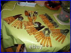 Single items or sets bamboo handle flatware