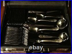 Solingen 24k Gold Plated Cutlery Service in Case 12 Place Settings + Servers NEW