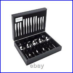 Stainless Steel 44 Piece 6 Person Canteen Cutlery Set For Luxury Home Dining New