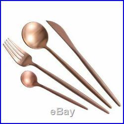 Stainless Steel Cutlery Tableware Kitchen Dinner Forks Knives Food Scoop Set