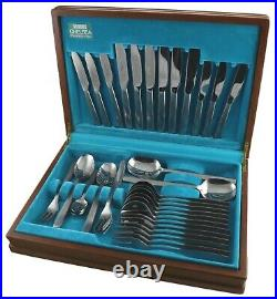 VINERS Cutlery CHELSEA Steel Pattern Boxed Canteen for 6