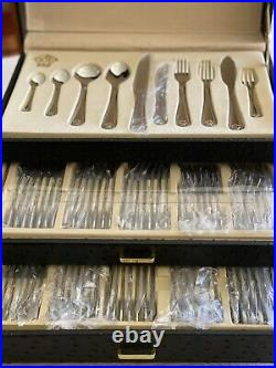 Versaille France 80 Piece Cutlery Set Brand New Unused In Faux Leather Box