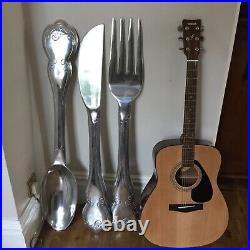 Very large knife, fork and spoon set