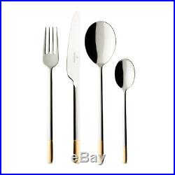 Villeroy & Boch Ella Partially Gold Plated 24 Piece Stainless Steel Cutlery Set