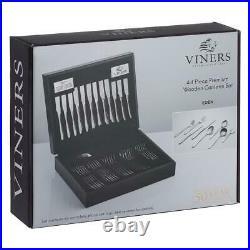Viners Eden 18/10 Stainless Steel 44 Piece Cutlery Set Wooden Canteen Giftbox