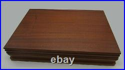 Viners LOVE STORY Cutlery Set in TEAK Box 1st Edition 1970's DAISY Flowers 44pc
