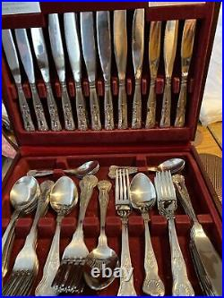 Viners Stainless Steel 58pc Boxed Kings Royale Cutlery Set