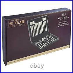 Viners Studio 18/10 Stainless Steel 44 Piece Wooden Canteen