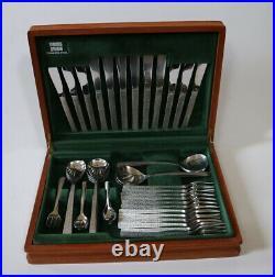 Viners Studio 1960s Gerald Benney 60 Piece Canteen of Cutlery Set unused