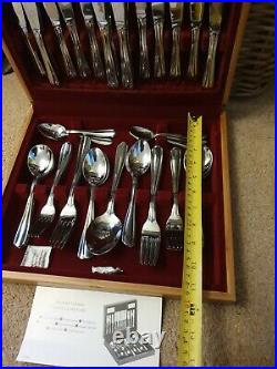 Viners WESTBURY Stainless Steel 56 Piece Canteen Cutlery Service For 8 People