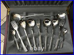 Vintag 44Pc Viners Bark Cutlery Set Gerald Benney Studio Stainless Steel Canteen