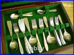 Vintage 1960s/1970s Old Hall Campden Modernist Steel 54 pc Cutlery Set & Canteen