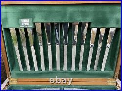 Vintage Gerald Benney Viners Studio Bark Stainless Steel Canteen Cutlery Set. 62