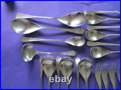 Vintage Old Hall Alveston Stainless Steel Thirty Four Piece Cutlery Set