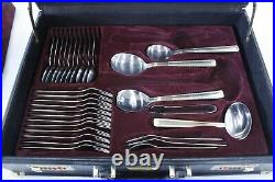 Vintage SOLINGEN of Germany 78pc Gold-Plated Cutlery Set for 12 with Case H10
