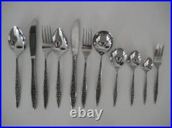 Vintage Stainless Steel Viners Mosaic Cutlery Set 62 Pieces Knives Forks Spoons