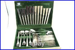 Vintage Viners Studio Canteen of Cutlery Bark Design 44 Piece Boxed Cutlery