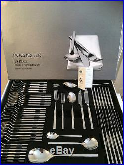 X2 Stellar Rochester Polished 58 Piece Cutlery Boxed Sets BL71, TWO SET OFFER
