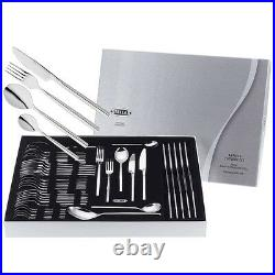X4 Stellar Rochester 44 Piece 18/10 Polished Cutlery Set Boxed BL58, NEW