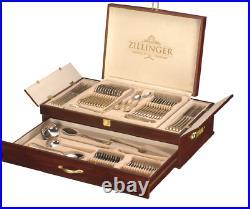 Zillinger Medusa Greek Heavy 72 Piece Gold Cutlery Set Stainless Steel Canteen